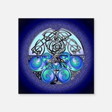 Celtic Chinese Dragons Blue and Black Sticker