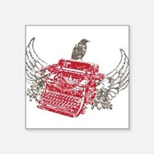 Typewriter and Wings for Writer Sticker