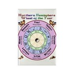 Celtic Wheel of the Year Nth Rectangle Magnet