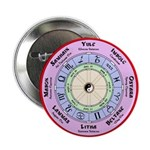 """Celtic Wheel of the Year Nth 2.25"""" Button (100 pac"""