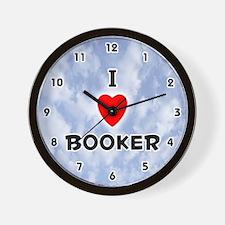 I Love Booker (Black) Valentine Wall Clock