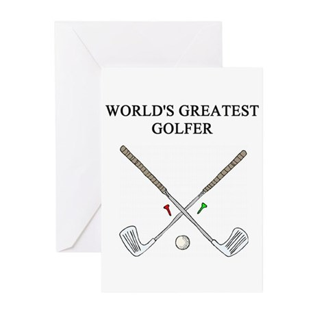 golf humor gifts t-shirts Greeting Cards (Pk of 10