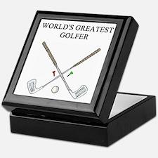 golf humor gifts t-shirts Keepsake Box
