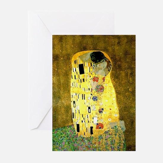 The Kiss Gustav Klimt Greeting Cards