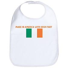 MADE IN AMERICA WITH IRISH PA Bib
