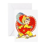 Slide Into Your Heart Greeting Cards (Pk of 20)