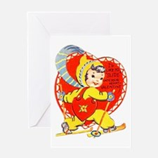 Slide Into Your Heart Greeting Card