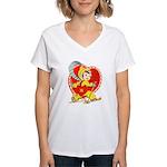 Slide Into Your Heart Women's V-Neck T-Shirt