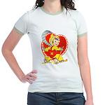 Slide Into Your Heart Jr. Ringer T-Shirt