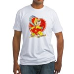 Slide Into Your Heart Fitted T-Shirt