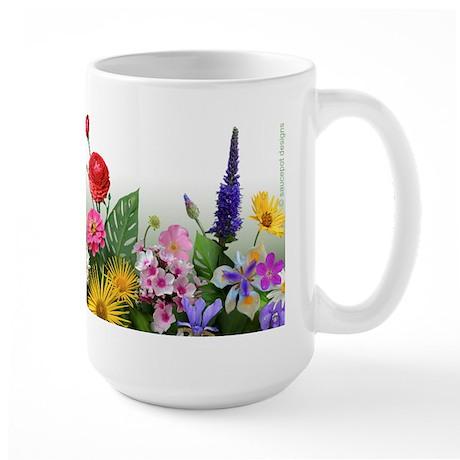 Mixed Flowers Large Mug