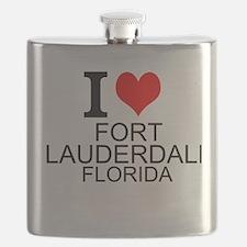 I Love Fort Lauderdale, Florida Flask