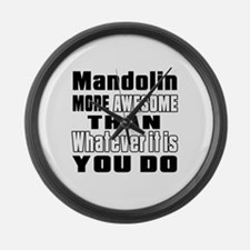 Mandolin More Awesome Large Wall Clock