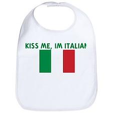 KISS ME IM ITALIAN Bib