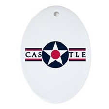Castle Air Force Base Oval Ornament