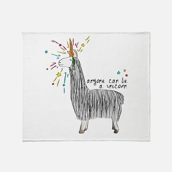 Cute Cute llama Throw Blanket