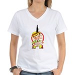 Feather or Not Women's V-Neck T-Shirt