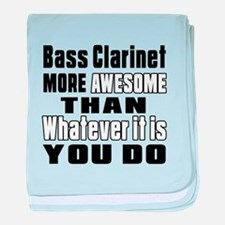 Bass Clarinet More Awesome baby blanket
