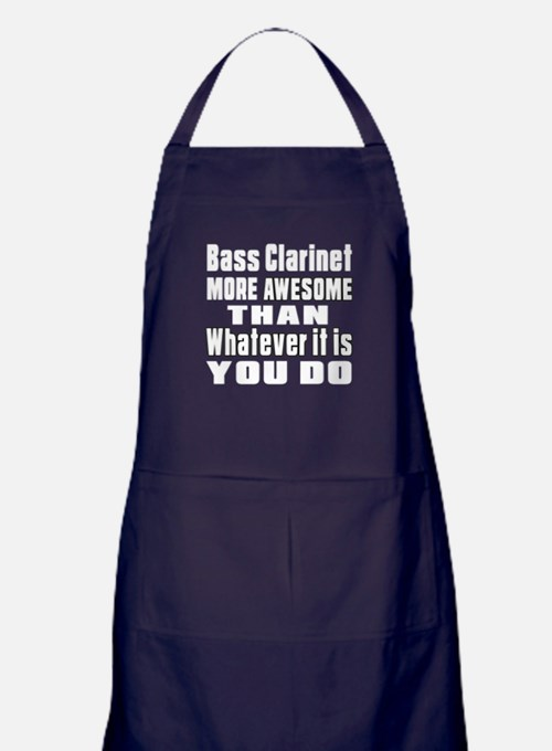 Bass Clarinet More Awesome Apron (dark)
