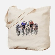 Cute Bicycling Tote Bag