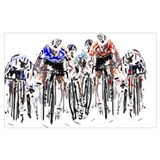 Bicycling Wrapped Canvas Art