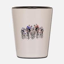 Cyclists Shot Glass