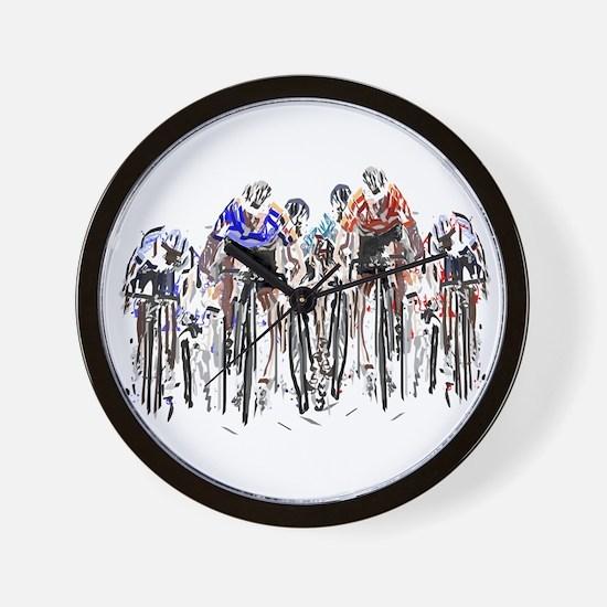 Cyclists Wall Clock