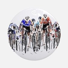 Cyclists Round Ornament