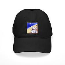 Westies at the beach Baseball Hat