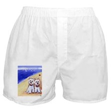 Westies at the beach Boxer Shorts
