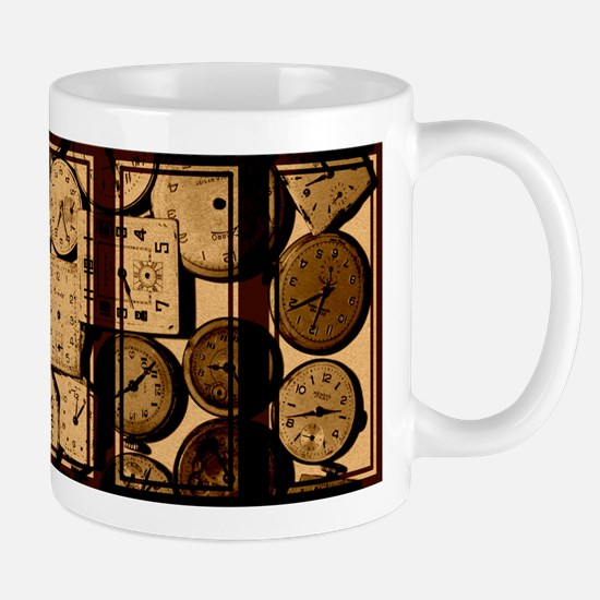 triptych vintage watch faces Mugs