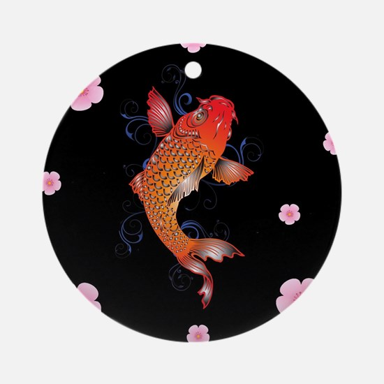 Koi Fish Sealife Round Ornament