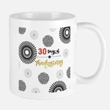 30 Days of Thanksgiving, Black and White Blos Mugs