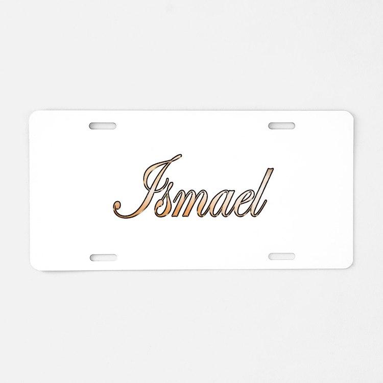 Gold Ismael Aluminum License Plate