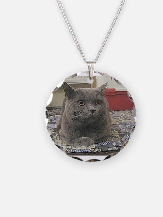 british shorthair gray Necklace