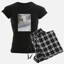 Lone Cross Country Skier Pajamas