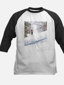 Lone Cross Country Skier Baseball Jersey