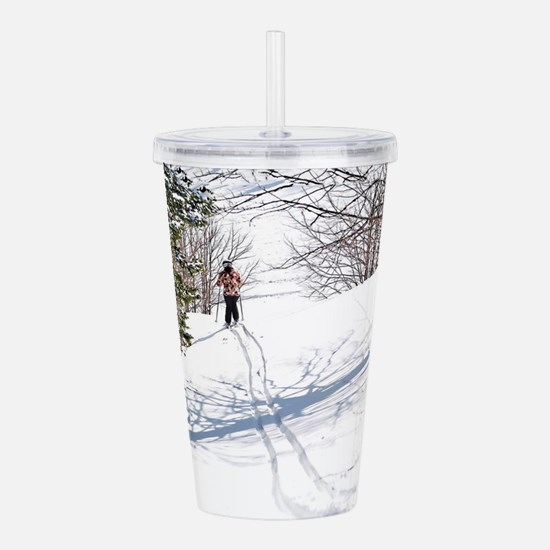 Lone Cross Country Ski Acrylic Double-wall Tumbler