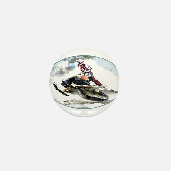 Snowmobile Competition Mini Button