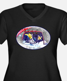 Hockey Score Attempt from the Ic Plus Size T-Shirt