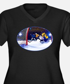 Ice Hockey Battle Through the Ca Plus Size T-Shirt