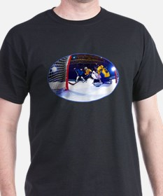 Ice Hockey Battle Through the Cage T-Shirt
