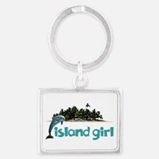 Island Girl With Dolphin Keychains