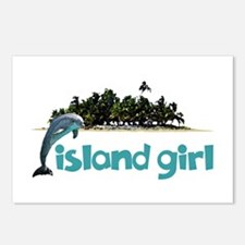 Island Girl With Dolphin Postcards (Package of 8)