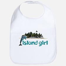 Island Girl With Dolphin Bib