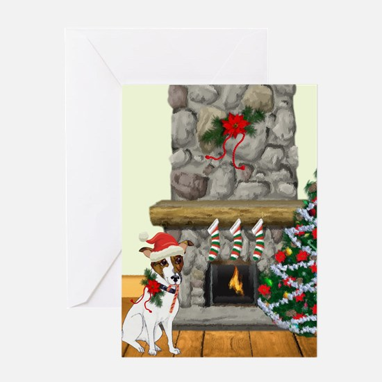 A Jack Russell Christmas Greeting Cards
