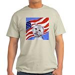 Westie w American Flag Ash Grey T-Shirt