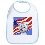 Westie w American Flag Bib