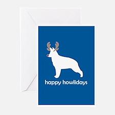 "G Shepherd ""Happy Howlidays"" Greeting Cards (Packa"