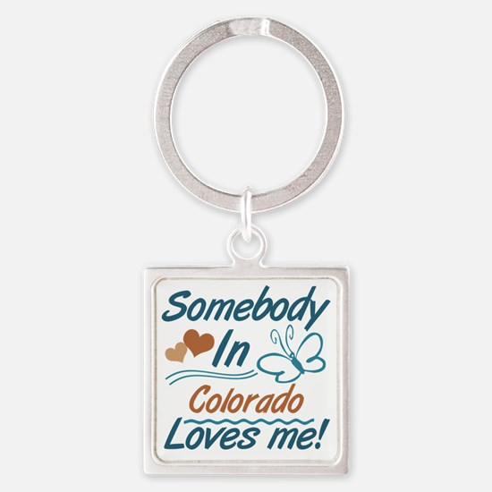 Funny Someone los angeles loves me Square Keychain